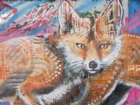 Urban fox graffiti
