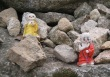 Little Buddhas on a rock, Korean monastery