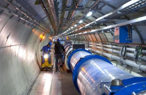Tunnel vision … a view of the large hadron collider. Photo: CERN
