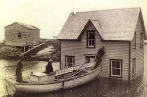 Cape Island, Newfoundland floating house
